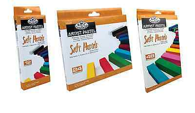 Royal & Langnickel Assorted Soft Pastel Charcoal Bold Colour Stroke 12 24 48 Set