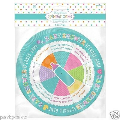 6 Pack Baby Shower Party Spinner Game Unisex Fun And Games