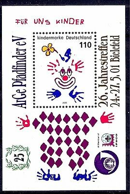 Germany 2000 Circus Animated Clown Children m/s MNH