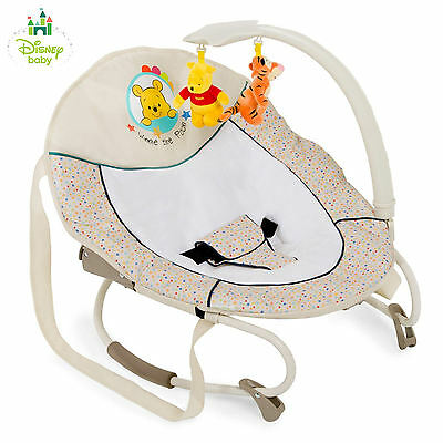 New Hauck Disney Bungee Leisure Baby Bouncer Rocker Chair & Toy Bar From Birth