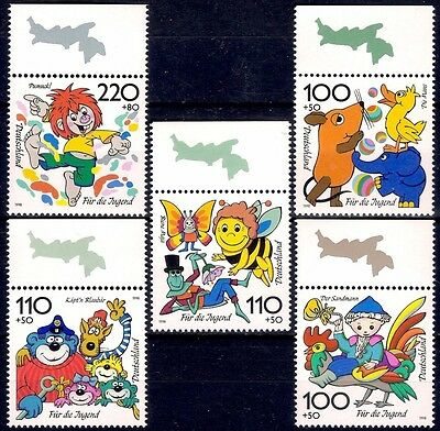 Germany 1998 Fairy Tales Cartoons Comics Birds Insects Bear Rooster Duck MNH
