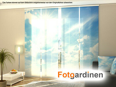 fotogardinen himmel fl chenvorhang schiebegardinen mit. Black Bedroom Furniture Sets. Home Design Ideas