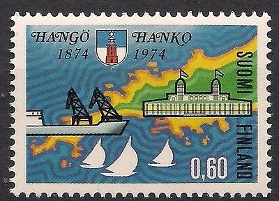 Finland 1974 Hanko City Coat of Arms Maps Sailboat Ships Cranes Harbour MNH**