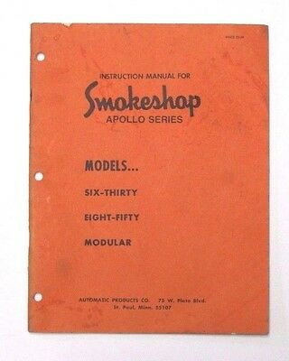 Instruction manual for Smokeshop apollo series vending machines