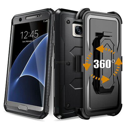 Heavy Duty Rugged Hybrid Hard Silicone Shockproof Case Cover With Belt Clip