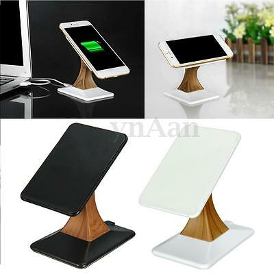 QI Wireless Charger Vertical Rotating Charging Dock Stand Pad For Phone Tablet