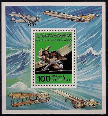 Libya 1978 Planes Wright Brothers Concorde Boeing Birds Eagle Aviation m/s MNH