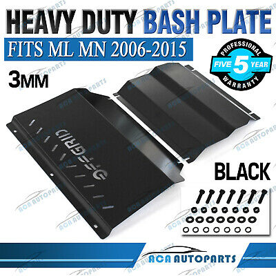 Bash Plate Front Sump Guard for Mitsubishi Triton ML MN Powder Coated BLACK 3mm