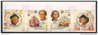 Romania 2005 Columbus Sailing Ships Explorer Exploration Europa Imperf strip MNH