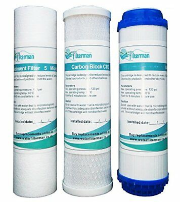 3 Stage HMA Heavy Metal Reduction Water Filter System Replacement Filters