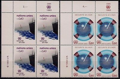 UN(G) 1983 Sea Safety Radar​ Ship Na​utical Mar​itime Boat​ Transport Bl 4 MNH