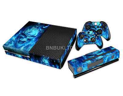 Blue Skull Skin Sticker For Xbox ONE Console Controller+ Kinect Decal Vinyl