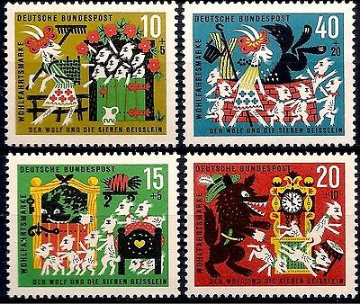 Germany 1967 Brothers Grimm Fairy Tales/Wolf and Seven Kids/Goats Animation MNH