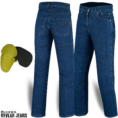 Mens Motorcycle Motorbike Jeans Denim Reinforced with Protective Lining