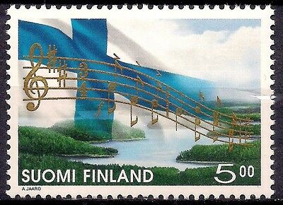 Finland 1998 National Anthem Flag Musical Score Music Lake Forest Landscape MNH