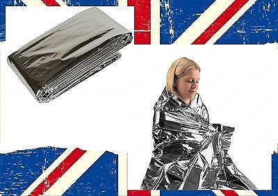 First Aid Survival Waterproof Foil Emergency BLANKET Thermal FREE 1ST CLASS POST