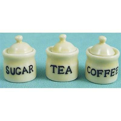 Tea Coffee & Sugar Set 1:12 Scale for Dolls House D2208