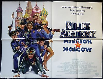 Police Academy Mission To Moscow Original 1994 Quad Poster  Michael Winslow