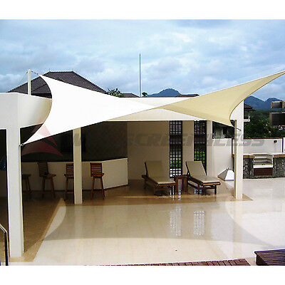 Sun Shade Sail Fabric Outdoor Canopy Patio Pool Awning Cover 12' or 16' or 18'