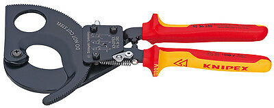 Knipex 9536280SBA Cable Cutters-Ratcheting Type- 1,000V Insulated 11 In
