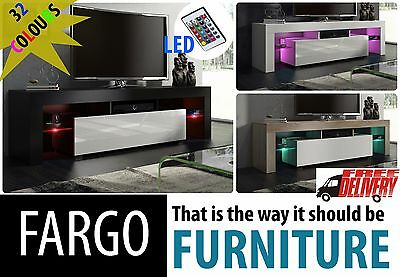 Modern 160Cm Tv Stand Cabinet Unit / 32 Colours + Acrylic High Gloss + Rgb Led