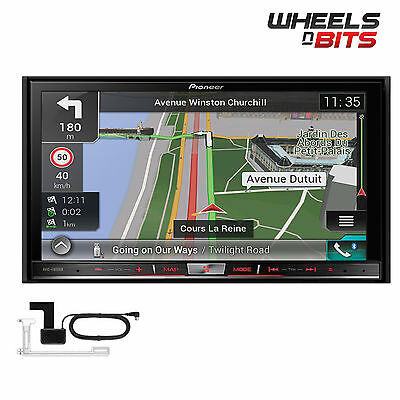 "Pioneer AVIC-F80DAB Double Din 7"" Navigation System Bluetooth DAB Apple Carplay"