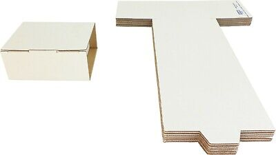 (10) CDBC06DC 6 CD FoldUp Cardboard Mailers Shipping Boxes White Card Board NEW