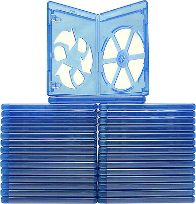 (30) 1 Disc Blu-Ray Standard Empty Replacement Boxes Cases 12mm #BRBR12BL-ECO