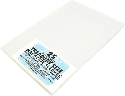 (25) Treasury Size RESEALABLE Magazine Comic Sleeves Slips Covers Bags ARCHIVAL