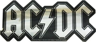 15493 AC/DC Silver Chrome Logo ACDC Sticker Decal AC-DC Angus Young Rock 80s New