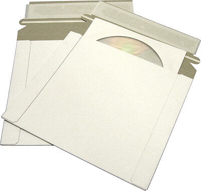 (100) CDBC06PB-ALT Paperboard CD Mailer Self Sealing Flap DVD Media Shipping NEW