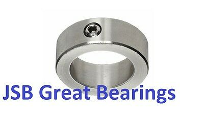 """1"""" shaft set screw solid steel collar stop zinc plated 1 inch collars AISI 1020"""