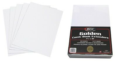 (200) BCW GOL-CE BCW Golden Age Comic Book LIFE EXTENDERS Sheets Pages Inserts