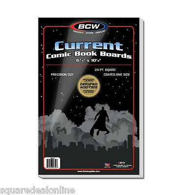 (100) BCW BBCUR Current Modern Age Size Comic Backing Boards Backer Storage