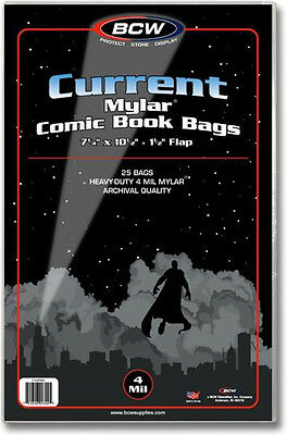 (50) BCW CUR-M4 Current Age Modern Mylar 4mil Sleeves Bags Covers Store Protect