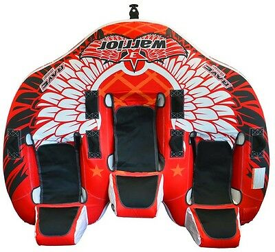 NEW Rave Sports 02379 Warrior 3 Water Boat Towable Tube Ski Sled w/ Warranty