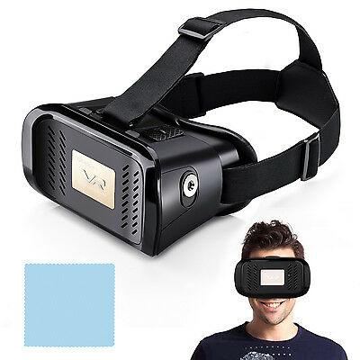 3D Virtual Reality VR Google Glasses Headset Video Game for 4-6'' Smart Phones