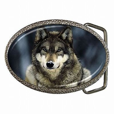 Wolf Silver Wolves Accessory Belt Buckle New!