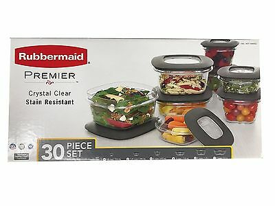 Rubbermaid Premier 30 Piece Food Storage Set with Easy Find Lids New in Box