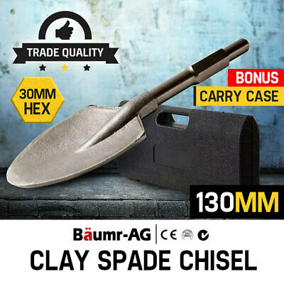 NEW Baumr-AG JackHammer Clay Spade Extra Wide Pointed Chisel Jack hammer Tipped