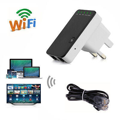 300 Mbps Wireless N Repeater Router AP Client Bridge with WPS 2 Ethernet Port UK