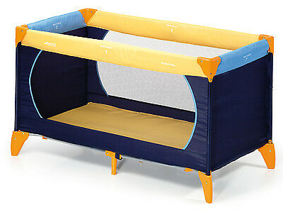 New Hauck Childs Portable Yellow / Blue Dream N Play Baby Travel Cot / Playpen
