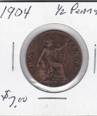 1904 Great Britain 1/2 Penny