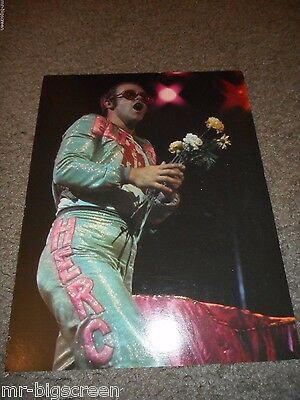 "Elton John - Original 1974 Rising Signs Large Poster Card - 8 1/2"" X 11"""