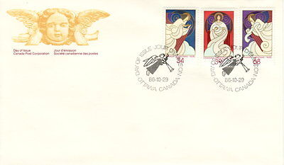 Canada #1113-1115 Christmas Angels Combination First Day Cover