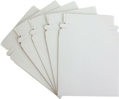 "(5) CDBC05PB Paperboard 5"" Single CD DVD Disc Boxes Mailers Self-Sealing Ship"