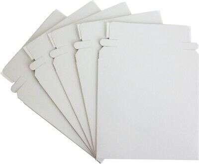 "(5) Paperboard 5"" Single CD DVD Disc Boxes Mailers Self-Sealing Ship #CDBC05PB"