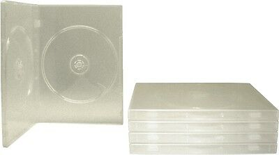 (5) DV2R14CL Clear Standard Double DVD Boxes CASES 2DVD NEW Wrap Around Sleeve