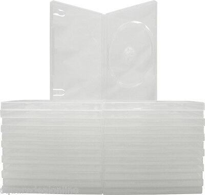 (25) DVBR14CL CLEAR DVD Cases Single Replacement Boxes 14mm Disc Holder Storage