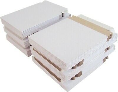 "(100) Paperboard 5"" Single CD DVD Disc Boxes Mailers Self-Sealing Ship #CDBC05PB"